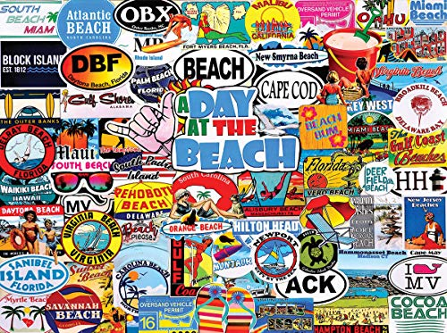 White Mountain Puzzles A Day at The Beach - 1000 Piece Jigsaw Puzzle