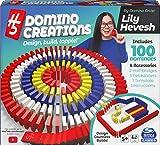 Spin Master Games H5 Domino Creations - Juego de 100 Piezas de Lily Hevesh para familias y niños de 5 años en adelante