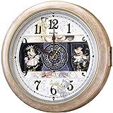 セイコー クロック 掛け時計 ミッキーマウス ミニーマウス 電波 アナログ からくり 6曲 メロディ ミッキー&フレンズ Disney Time ディズニータイム 薄茶 マーブル 模様 FW561A SEIKO