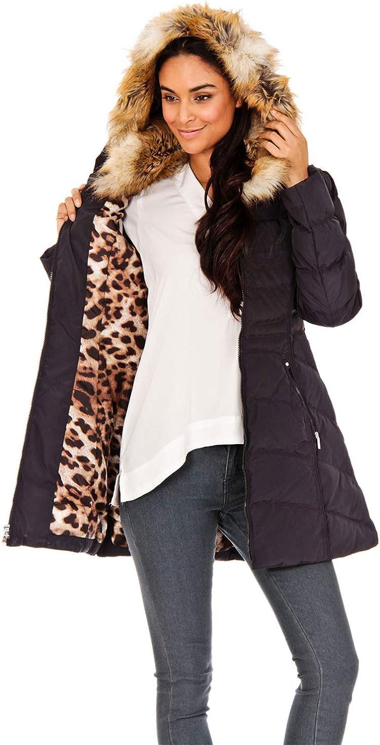 LAUNDRY BY SHELLI SEGAL Faux Fur Trim Puffer Jacket, Blue