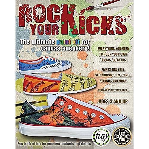 de674e84347 Amazon.com  Rock Your Kicks DIY Paint Kit