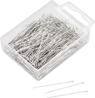 Cabezal de una Caja en Forma de Flor Li/_unmio Aguja de Acero Inoxidable alfileres de Costura Plana Incluye 100 Pines