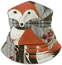 The Fox in Autumn Fleece Neck Warmer Heat Trapping Sun-Proof Neck Gaiter Tube Soft Elastic Balaclava Half Mask Unisex Windproof Ski Neck Gaiter Cover for Winter Skiing Run