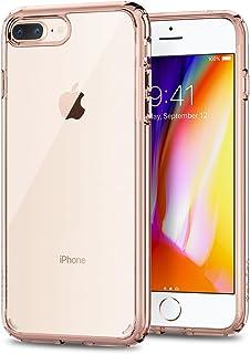 Spigen Funda iPhone 7 Plus / 8 Plus, Ultra Hybrid 2 Tecnología de amortiguación de Aire y protección híbrida contra caídas - Rose Crystal