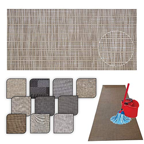 Tappeto passatoia Cucina Lavabile Lucy - antimacchia e Antiscivolo aderisce Perfettamente a Terra Non Piega Si pulisce con straccio - tappeti casa Moderno (50X180, 63)