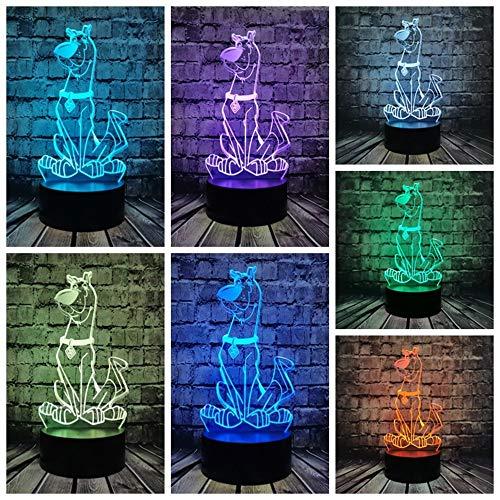 Handsome Cartoon Dog Cracked Base neon Light 3D Vision Light Multicolor Acrylic Night Light USB, led Light Home Decoration Gift