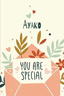 """Ayako You Are Special: Gift for Ayako, Birthday Personalized Beautiful Notebook Gift, Practical 100 Timeline Pages, 6""""x9"""" ..."""