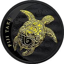 2011 FJ Modern Commemorative PowerCoin TAKU TURTLE Hawksbill Black Ruthenium 1 Oz Silver Coin 2$ Fiji 2011 BU Brilliant Uncirculated