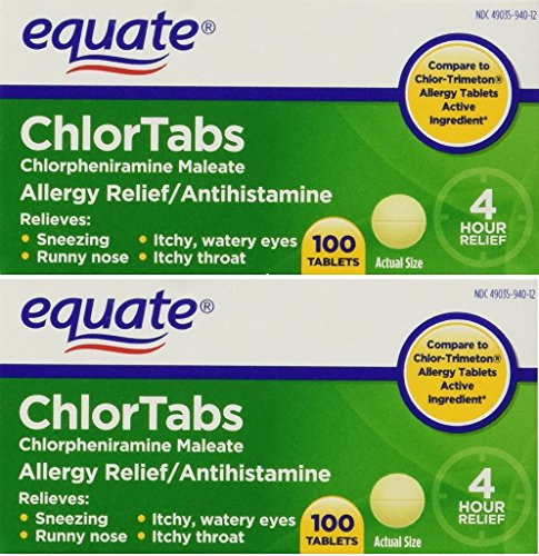 Equate: Chlortabs Tablets Antihistamine, 200 ct