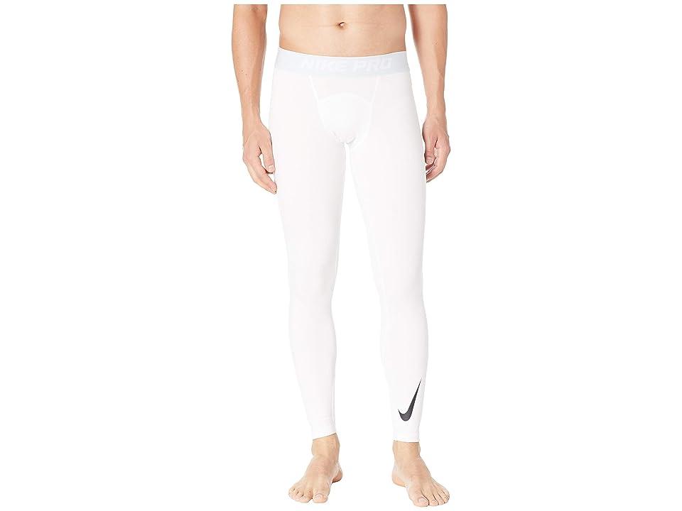 Nike Pro Thermal Tights (White/Pure Platinum/Black) Men