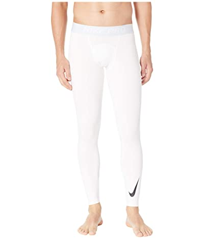 Nike Pro Thermal Tights (White/Pure Platinum/Black) Men
