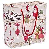 Mogoko 12x Weihnachten Geschenktüten mit Griffen Urlaub Weihnachten Cartoon Papiertaschen Geschenktüten Papier für Weihnacht (12*mittlel)