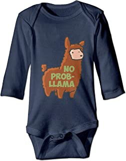 No Prob-Llama Baby Bodysuit Lovely Onesie Soft Rompers Jumpsuit