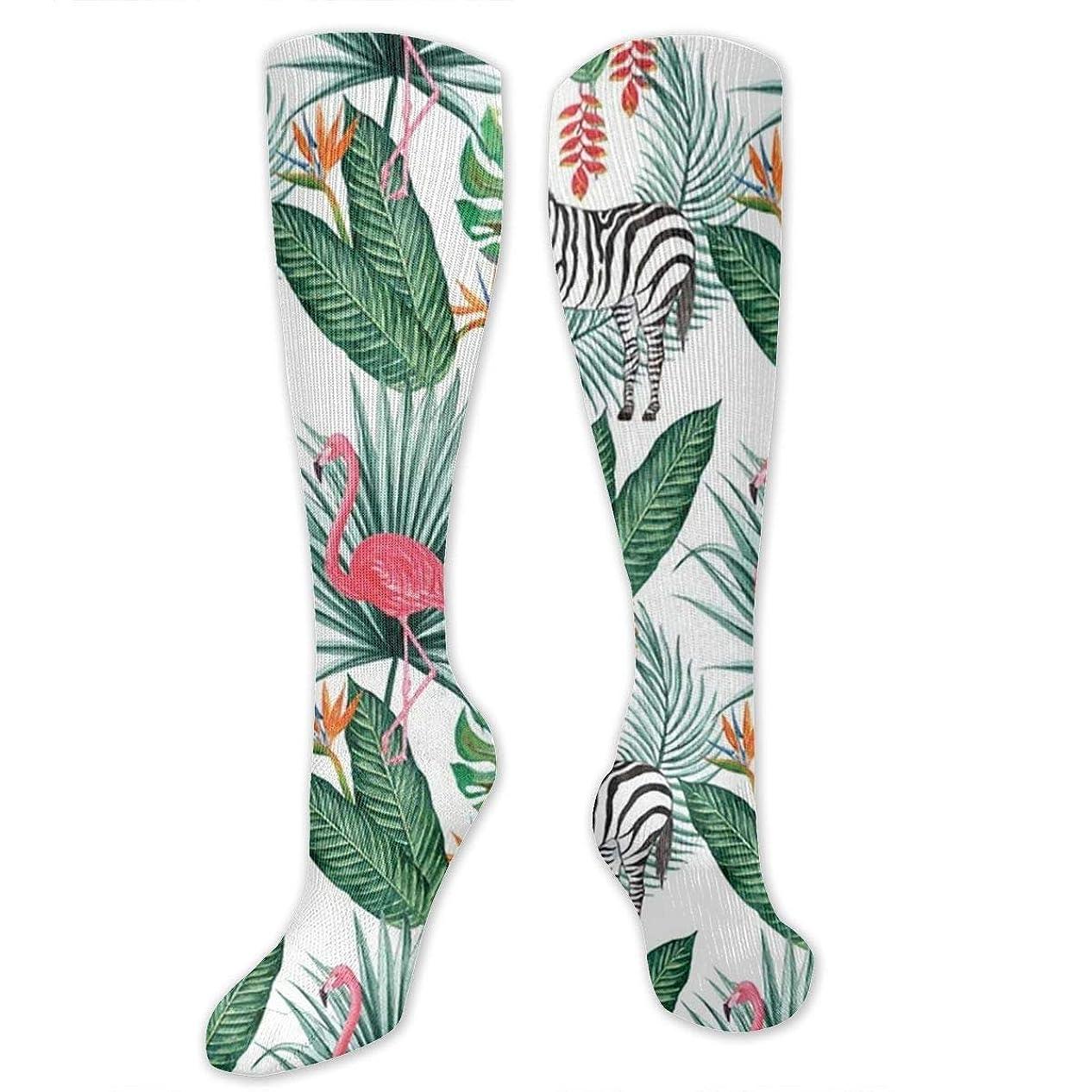 クアッガキャンバス一般的な靴下,ストッキング,野生のジョーカー,実際,秋の本質,冬必須,サマーウェア&RBXAA Flamingo Zebra Socks Women's Winter Cotton Long Tube Socks Cotton Solid & Patterned Dress Socks