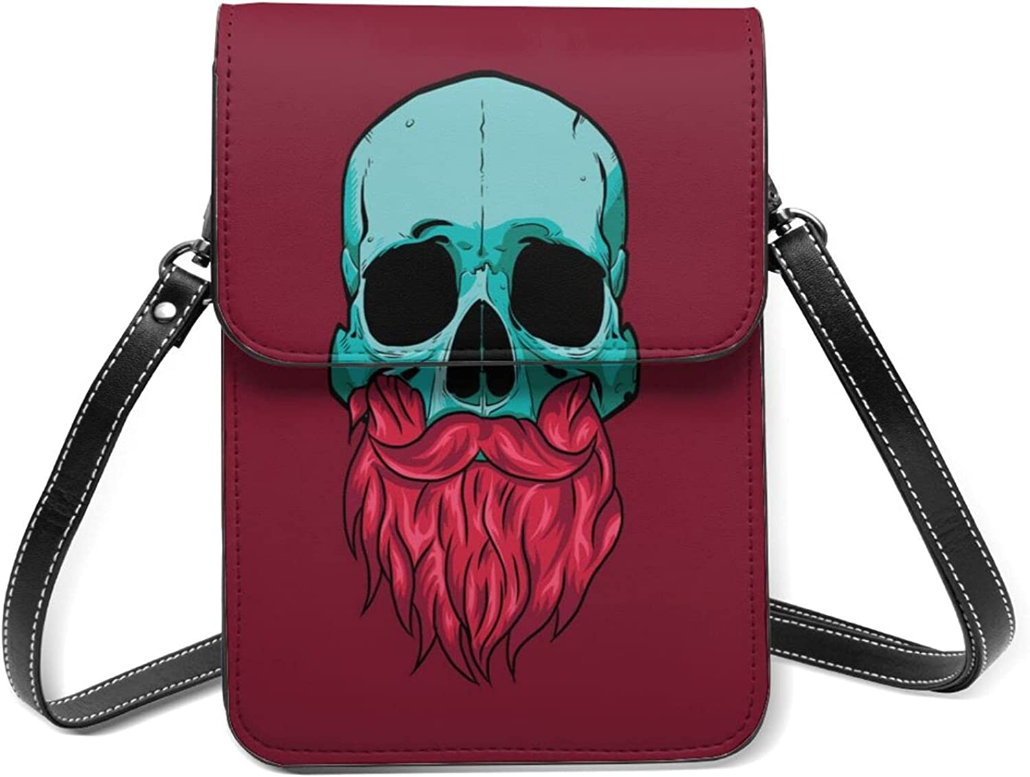 With Red Finally resale start Beard And Many popular brands Green Skull Cell Purse Small Phone Flip Light