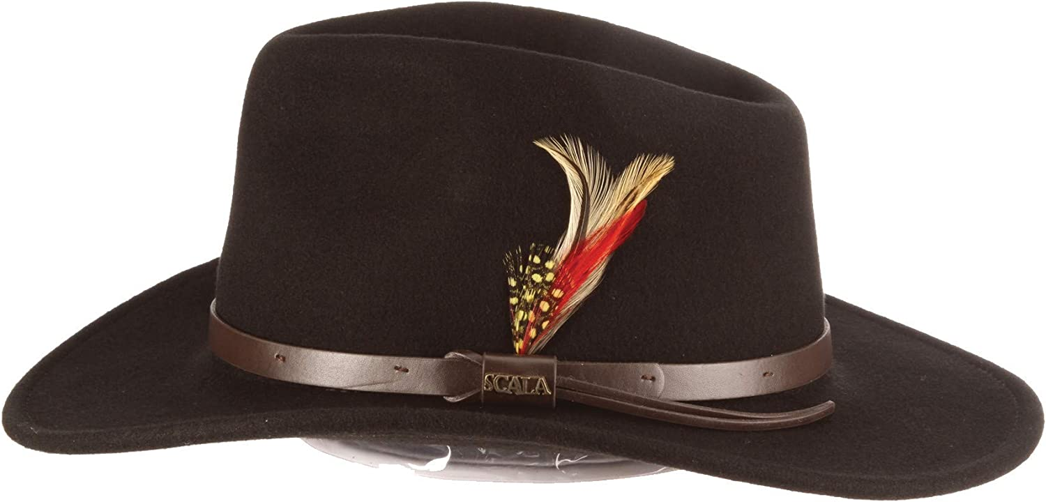 Scala Classico Men's Crushable Felt Outback Hat Max Large discharge sale 71% OFF