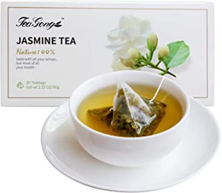 TeaYong Jasmine Green Tea Bags 30 Count(pack of 1) 90g Total Low Caffeine TraditionTea Flower Flavor Individually Wrapped