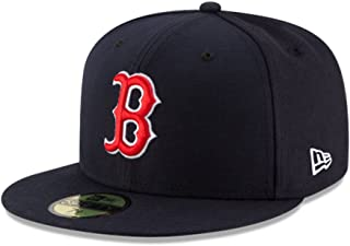 New Era Kids 59Fifty Fitted Hat Authentic Collection Boston Red Sox Game Navy