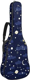Bennigiry Galaxy kosmos rymdelement mönster gitarrväska akustisk gitarr spelning väska gitarr bärväska för gitarrist