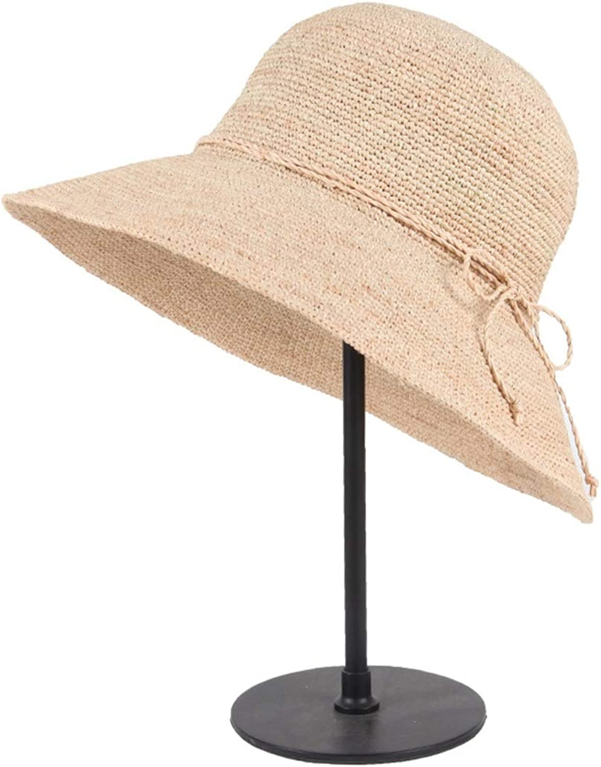 Carriemeow Spring and Summer Sun Predection, Sun Hat Big Along The Hat, Folding, color Beige Sunhat (color   Beige)