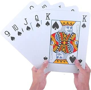 PMLAND Super Giant Novelty Poker Index Playing Cards - Jumbo 8 x 11 Inch Size