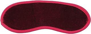 LALANG Soft Eye Mask Shade Nap Cover Blindfold Sleeping Travel Eye Shield(red)