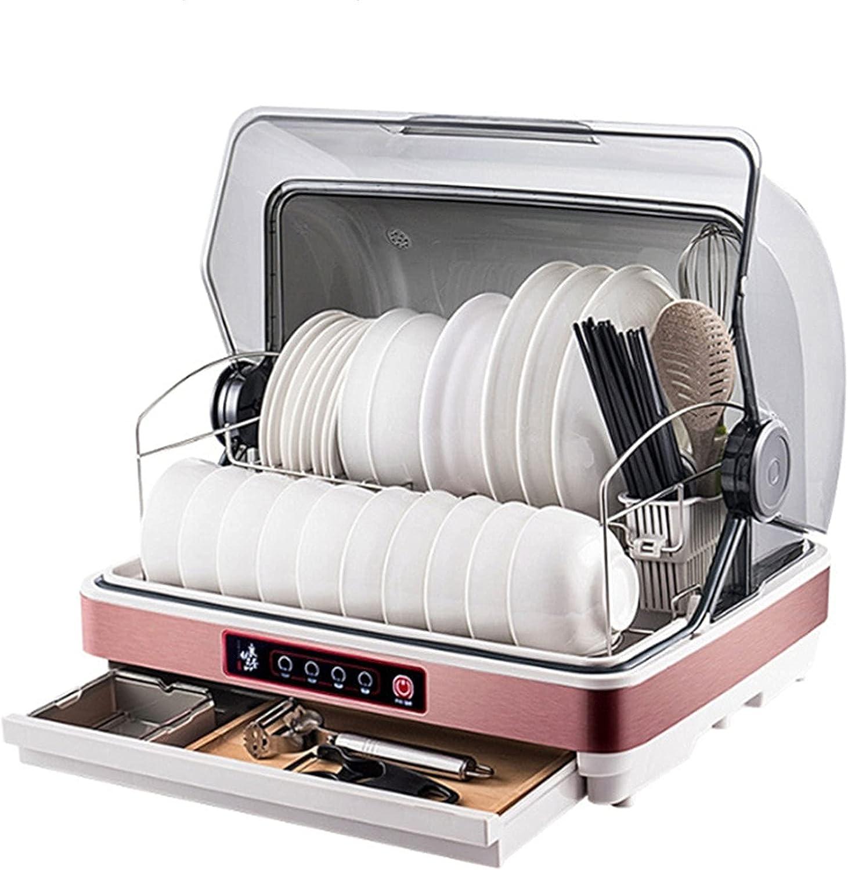 MOSHUO Lavavajillas de encimera portátil, vajilla compacta de Almacenamiento para lavavajillas de 315 W con Pantalla LED y Canasta, para Oficina y Cocina doméstica, Rosa