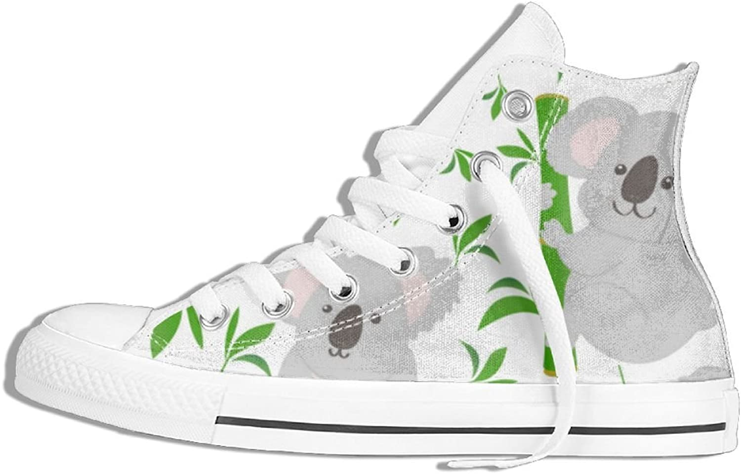 Womens Hi-Top Canvas Sneakers Sloth Hug Tree Flat Anti Skid Walking Trainers shoes