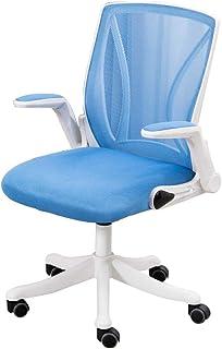 WQZB-Silla giratoria Sillas ergonómicas de Respaldo Alto para sillas de Escritorio Sillas giratorias para Oficina en casa Sala de Estudio 8 cm de Altura Ajustable 360 ° Ruedas giratorias