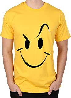Caseria Men's Cotton Graphic Printed Half Sleeve T-Shirt - Smiley Stroke