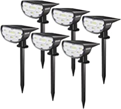 JESLED 14 LED Landscape Spotlights, Outdoor Solar Powered Spot Lights, IP67 Waterproof, Bright White 2-in-1 Wireless Secur...