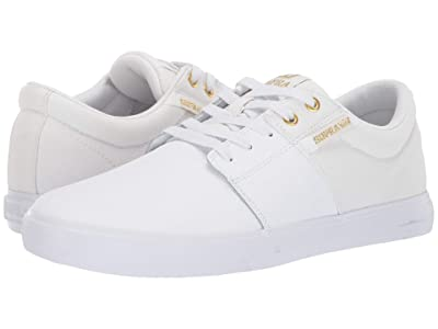 Supra Stacks Vulc II (White/Gold/White) Men