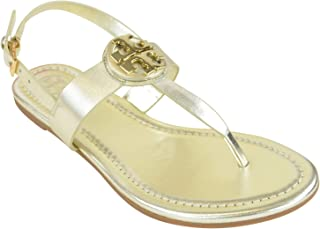 971749a79bf Tory Burch 46233 Bryce Flat Thong Sandal Spark Gold Size 7.5