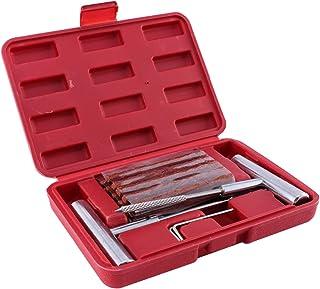 Garneck Kit de ferramentas de reparo de pneu de carro, 24 peças, kit de reparo de perfuração de pneu plano, resistente par...