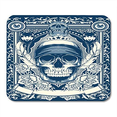 AOHOT Mauspads Skull Last Hero Gangster Zombie Bandana Rock Wolf Mouse pad 9.5