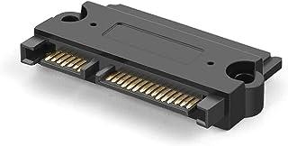 "CableCreation SATA 22 Pin Male to SATA 22 Pin Female Adapter, SATA 22 Pin (7+15) Male to Female Adapter for 2.5"" HDD, Black"