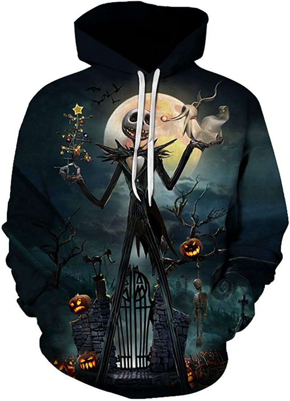 Emejate El Paso Mall Mens The Nightmare Before Printed 3D Christmas Swea Jack Max 78% OFF