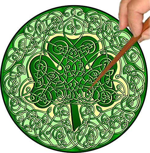 Mandalynths Celtic Shamrock Mindfulness Art for Stress, Anxiety and Attention Management