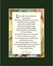 Ink Monkey Press St Francis Prayer - Calligraphy Print - 8x10 Matted - Dark Green