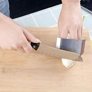 Herramienta de seguridad para cortar cuchillos, protector de dedos, accesorios de cocina de acero inoxidable útil Single ring