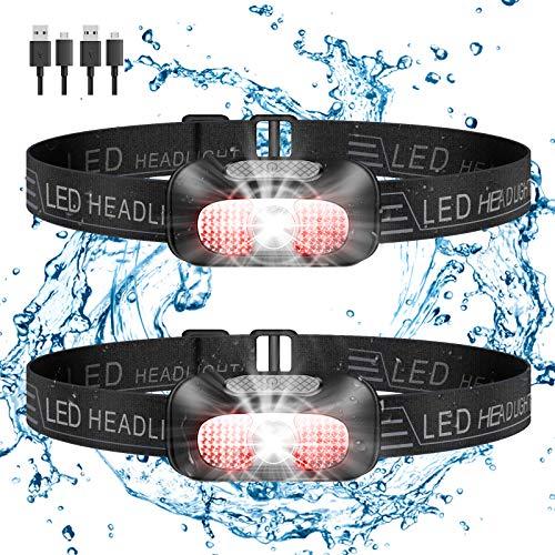 SYOSIN LEDヘッドライト USB 充電式 軽量 防水 お釣り ライト 高輝度 LED 明るい 登山 Led ライト ヘッドランプ 防災/登山/釣り/ランニング/作業用 へっとライト 日本語取扱説明書付き