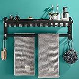 SHOP YJX Estante de baño de 40 cm, 50 cm, 60 cm, color negro,...