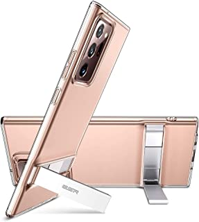 ESR Metal Kickstand Case for Samsung Galaxy Note 20 Ultra Back Cover Case [Crystal-Clear Slim Soft Silicone] [Vertical & Horizontal Stand] – Clear