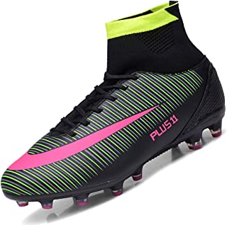 Botas de Fútbol Spike Profesionales Hombre Adulto Training High-Top Zapatos de Fútbol