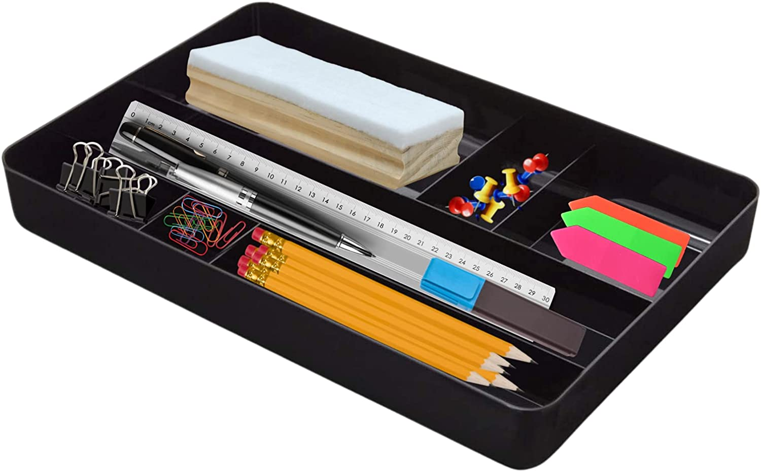 55% OFF 1InTheOffice Desk Drawer Organizer Tray Compartment 7 Plastic Al sold out.
