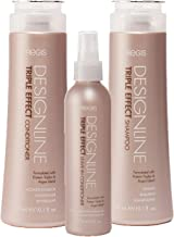 Triple Effect Shampoo and Conditioner Trio Kit - Regis DESIGNLINE - Sulfate Free Argan Oil and Keratin bundle for Normal or Dry Hair