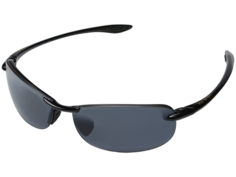 Maui Jim Makaha (Gloss Black/Neutral Grey Lens) Sport Sunglasses