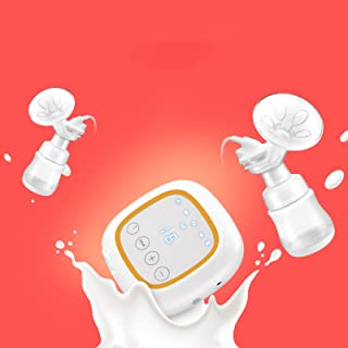 Double Electric Breast Pump for Breastfeeding Postpartum and Breastfeeding Essentials, 4 Modes & 16 Levels Backflow Protec...