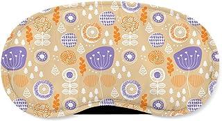 Winter Poppy Garden Orange - Sleeping Mask - Sleeping Mask