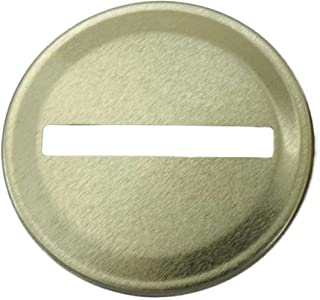 Gold Coin Slot Bank Lid Inserts for Mason, Ball, Canning Jars (10 Pack, Regular Mouth)